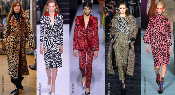 Animal print in clothing fashion trend