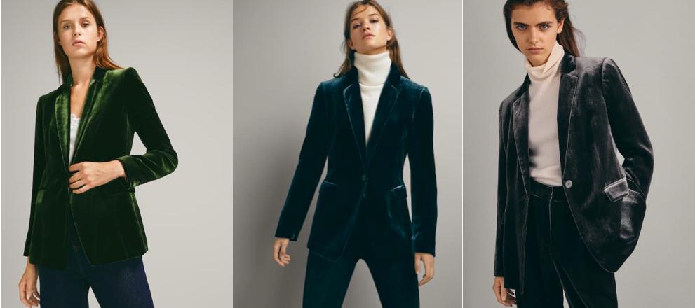 Velvet Jacket for Women, Massimo Dutti