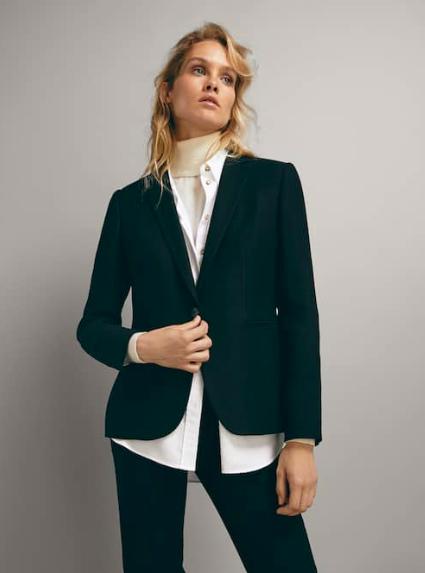 Wool Blend Women's Blazer