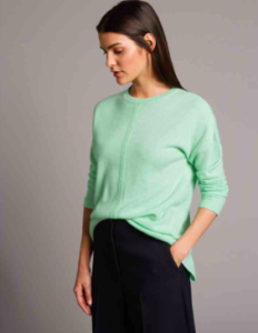 Cashmere Jumper Crew Neck in Jade