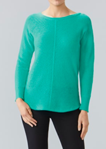 Cashmere Boat Neck Jumper for Women