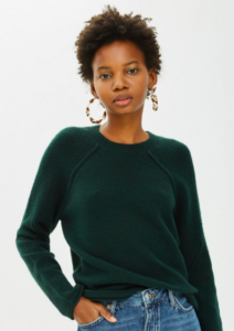 Dark Green Jumper for Women