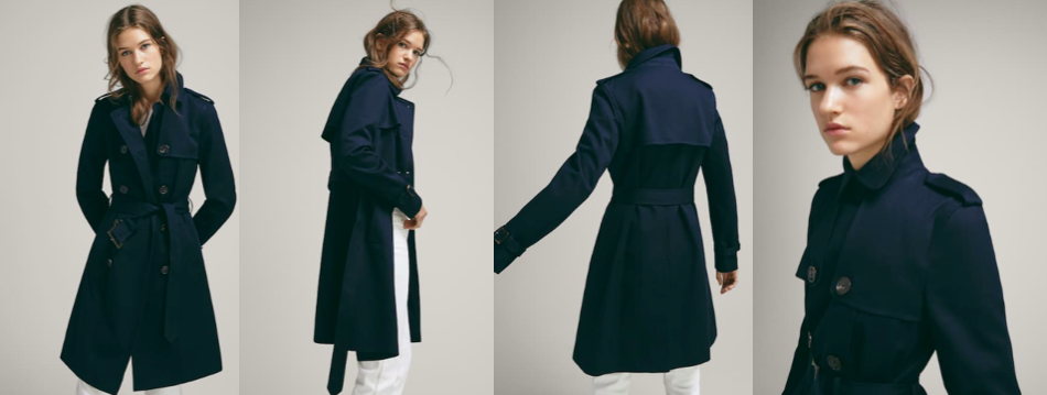 Navy Trench Coat for Women