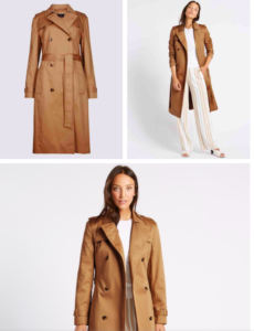 Beige Women's Trench Coat