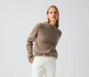 Crew Neck Wool Jumper for Women