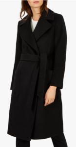 Long Black Winter Wool Coat for Women