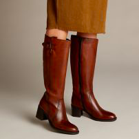 Knee High Brown Boots with a Heel