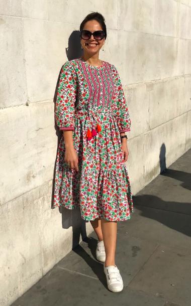 Cotton Block Printed Dress
