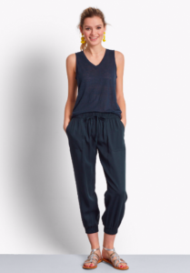 cropped trousers in blue
